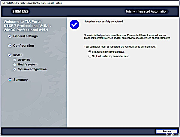 Установка TIA Portal V15 1